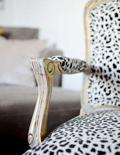 Gorgeous Animal Print Chair!