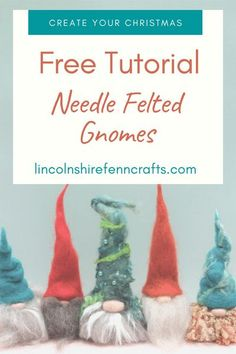 Start your creative Christmas with a needle felted gnome. DIY Christmas crafts add a personal touch to your Christmas decor. Super easy needle felting tutorial is a Christmas crafts for the whole family to enjoy.  #gnome  #christmascrafts #lincolnshirefenncrafts #diychristmas Creative Christmas Gifts, Homemade Christmas Gifts, Diy Christmas, Needle Felting Kits, Needle Felting Tutorials, Gnome Tutorial, Craft Gifts, Super Easy, Feltro