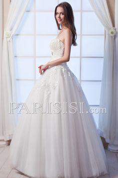 vestidos de novia Elegante Moderno Glamouroso Baja Tuln Sin Mangas Corazón Encaje Marfil Hasta Suelo