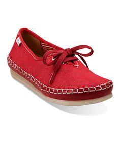 Clarks  -  Red Faraway Beach Lace-Up shoe
