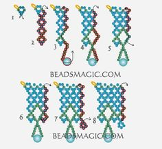 FREE Pattern for Necklace JASMINE. Page 3/4. Beads Magic
