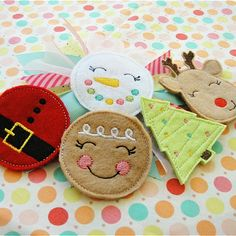 Christmas Hair Felties  This links to website to purchase patterns to make these appliques