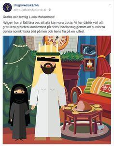 Allah kan inte alls vara Lucia i Sverige