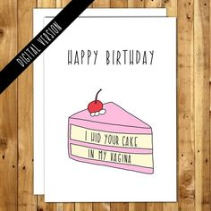 Printable Birthday Card For Boyfriend Husband Girlfriend Naughty Funny