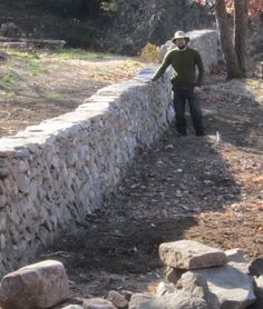 Dry stone wall freestanding