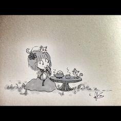 Tea time. #hanbok #kittens #tea #relaxation #illustration #dailydrawing #angelasongart
