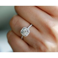 Details about  /2Ct Near White Round Moissanite Double Halo Engagement Ring 14K White Gold Over