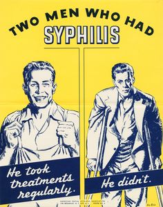 US Government social health poster 1940.