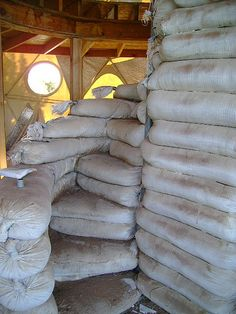 Earthbags have proven to be incredibly versatile. Check out these stairs - cement over them for a lovely effect.