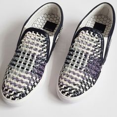 Dolce Vita Woven Leather Slip On Sneaker Sizing: True to size. Brand New, Never been worn. With box.  - Leather Upper, Rubber Sole - Round toe - Dual side goring - Multi color woven construction - Slip-on Dolce Vita Shoes Sneakers