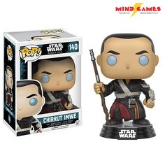 He may be sightless, but that doesn't stop Chirrut Îmwe from being a highly skilled fighter. A believer in the Force he has trained his body to become physically and mentally resistant, a great asset to bring down an organization as big as the Galactic Empire! Standing at 3 3/4 inches tall, the POP Star Wars: Rogue One Chirrut Îmwe Vinyl Figure is small enough to fit on your shelf, or just about anywhere you want to show off your love for Star Wars!