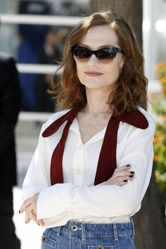 Isabelle Huppert Continues To Be My French Style Icon - Go Fug Yourself Isabelle Huppert, Four Eyes, Cannes Film Festival, Audrey Hepburn, Style Me, Personal Style, Chic, Lady, Womens Fashion