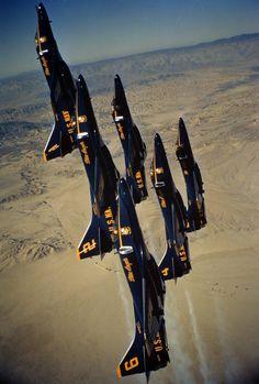 Blue Angels in A-4 Skyhawks