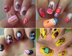 cute food nails