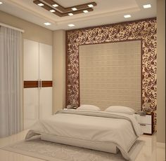Free Design consultation from our Interior Designers. Hotel Bedroom Design, Bedroom Wall Designs, Bedroom Door Design, Master Bedroom Interior, Bedroom Furniture Design, Modern Bedroom Design, Bed Furniture, House Ceiling Design, Ceiling Design Living Room