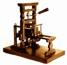 Miniature printing press by John Fass