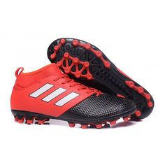 competitive price 44849 67881 Adidas ACE - Adidas ACE 17.3 Primemesh AG Red Black White Mens Football  Boots