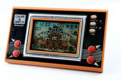 Nintendo Game & Watch Wide Screen Fire Attack MIJ 1982 Great 87 for sale online Vintage Video Games, Vintage Games, Retro Games, Vintage Toys, Cool Kitchen Gadgets, Cool Gadgets, Childhood Toys, Childhood Memories, Nintendo Games