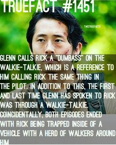 This is a reason I believe Glenn is really dead. He was saying goodbye.