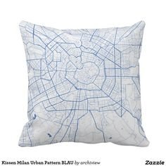 Kissen Milan Urban Pattern BLAU