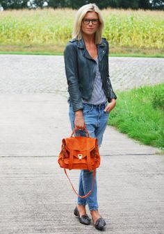 Mirror of fashion Fall Jeans, Fashion Outfits, Womens Fashion, Proenza Schouler, Boyfriend Jeans, Outfit Of The Day, Biker, Zara, Loafers
