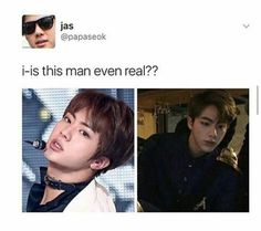 •he's real and he's worldwide handsome•