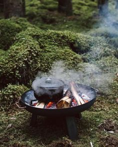 swedish woods Outdoor cooking in the Swedish woods. Bushcraft Camping, Camping And Hiking, Camping Survival, Camping Meals, Camping Cooking, Outdoor Life, Outdoor Fun, Outdoor Living, Fire Cooking