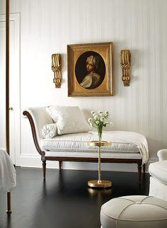 Beautiful seating and wallpaper