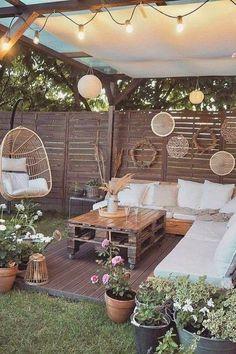 Outdoor Rooms, Outdoor Living, Outdoor Decor, Outdoor Retreat, Balkon Design, Backyard Patio Designs, Patio Ideas, Gazebo, Home And Garden