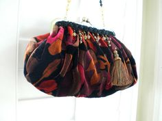 25% OFF COUPON SALE: Click photo for details. Etsy listing at https://www.etsy.com/listing/171394321/fabric-handbag-clutch-velvet-downton