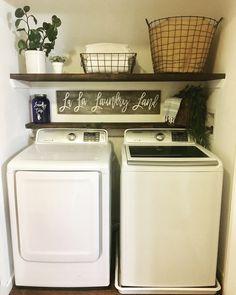 35 Amazingly Inspiring small laundry room design ideas For Small Spaces - Laundry Room Decor, Laundry Closet, Room Storage Diy, Farmhouse Laundry Room, Room Design, Room Decor