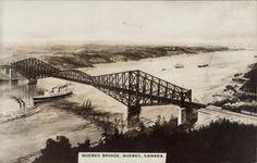 Le Pont de Québec Quebec Montreal, Quebec City, Chute Montmorency, Chateau Frontenac, Le Petit Champlain, First Nations, Native American Indians, Architecture, Canoe