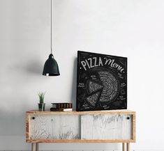 Πίνακας σε καμβά, τελαρωμένος – έτοιμος για τοποθέτηση   Εκτύπωση θέματος με ψηφιακή εκτύπωση σε καμβά 100% βαμβακερό  Τελάρο κουτί 4,5 cm Pizza Menu, Typography, Vintage, Letterpress, Letterpress Printing, Vintage Comics, Fonts, Printing