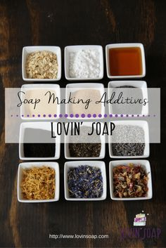 Free!! Soapmaking Additives Chart at Lovin\' Soap.   Additives in Soap | Adding herbs to soap | Exfoliating Soap | Additves for soapmaking | honey in soap | milk in soap