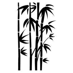 egyptian stencil designs | Wall Stencil Flora 191 Bamboo Mega - STENCILS DESIGN -Wall Stencils ...