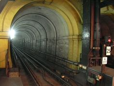 The Thames Tunnel, now part of the London Underground East London Line between Rotherhithe and Wapping.