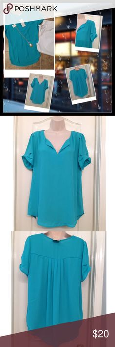 "Danielrainn Top Top sold by Nordstrom. Beautiful. Pit to pit 21"". Length 28"". 100% polyester. Hand wash. NWT Daniel Rainn Tops Blouses"