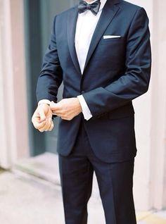 Blue suit.
