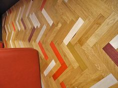 Colored Parquet Collection by McKay Flooring - i wouldn't hesitate to install this!