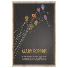 #houseofdesign | Mary Poppins Print by Logophilia. $28 on Fab.com