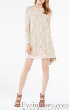 Corozo Long Sleeve Natyly BCBG Lace Cocktail Dress Short