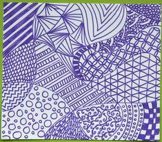 Derrière ce mot anglais se cache une technique de dessin, facile à apprendre et qui consiste à tracer des motifs, des formes répétitifs dans des zones délimitées : tout le monde peut faire du zentangle et en plus, c'est super relaxant car en traçant les motifs, on se concentre sur son dessin et c'est très satisfaisant. Essayez en même temps que vos enfants, vous verrez! Les résultats sont tout le temps jolis et on peut voir des exemples époustouflant sur Google Image, Flickr ou Pinterest.... Zentangle, Rock Art, Bullet Journal, Animation, Abstract, Artwork, Motifs, Color, Google