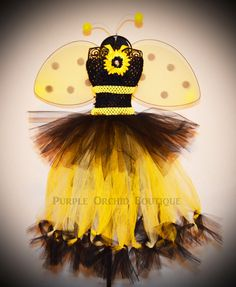 Bumble Bee Tutu Dress  Halloween Costume by PurpleOrchidBoutique