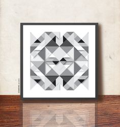 Minimalist Scandinavian poster. Geometric Print by TANGRAMartworks