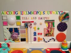 How to create a sensory board for your baby, and more easy diy sensory activities. lollygaglearning.com