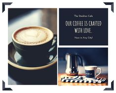 Use this customizable Grey Minimalist Drink Menu template and find more professional designs from Canva. Photo Collage Design, Photo Collage Template, Photo Collages, Pouring Coffee, Good Instagram Captions, Coffee Photos, Cool Writing, Drink Menu, Planer