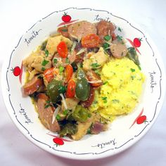 Inspired By eRecipeCards: Chicken, Sausage and Peppers with Gravy (Pollo, Salsicce e Peperoni con Sugo) Leftover Chicken Recipes, Leftovers Recipes, Raw Chicken, Chicken Sausage, Sausage And Peppers, Stuffed Peppers, Food Test, Special Recipes, Sausage Recipes