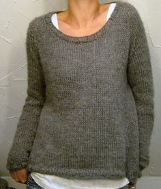 oversized sweater in sport weight angora used doubled throughout....could substitute the angora haze maybe? Pattern is perfect...exactly what I like and is around $7.45