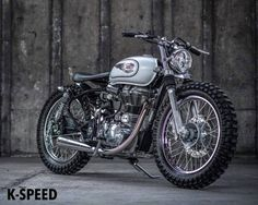 Royal Enfield Tracker by K-Speed - Photo by Overidephoto #motorcycles #streettracker #motos | caferacerpasion.com