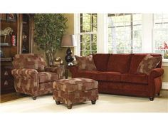 Shop for Smith Brothers Ottoman, 302-40, and other Living Room Ottomans at Whitley Furniture Galleries in Raleigh, North Carolina. Comfort Wrinkles are Designed to Appear in This Style to Enhance the Exceptionally Soft Feel of the Seat and Back Cushions.